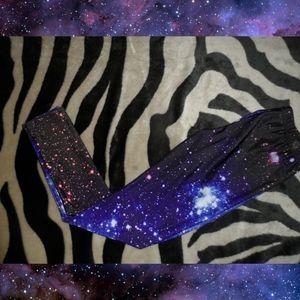Galaxy Leggings blue black and purple